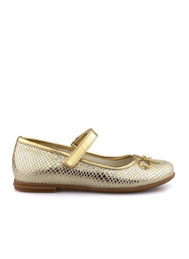 Cici Bebe Ayakkabı Crocodil Kız Çocuk Ayakkabısı Bronz